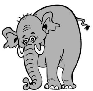 """""""Dikke, dikke olifant heb je al ontbeten Dikke, dikke olifant wat heb je gegeten. Tien emmers met water een kruiwagen brood. En daarom word jij zo vreselijk groot. Dikke, dikke olifant heb je al ontbeten. Dikke, dikke olifant wat heb je gegeten"""
