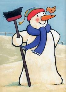 """""""Dag meneer de sneeuwman waar kom je vandaan. Dag meneer de sneeuwman blijf maar staan. Hier is mijn bezem, mijn stok en mijn hoed. Dag meneer de sneeuwman, het staat je goed""""."""