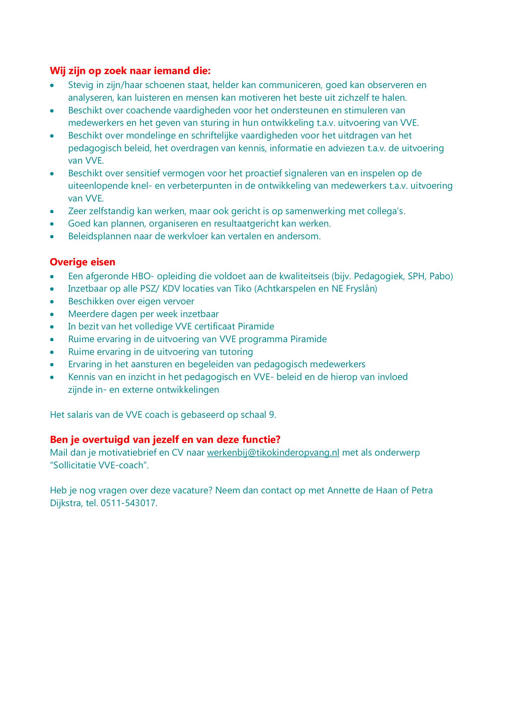 Vacature pedagogisch coach2